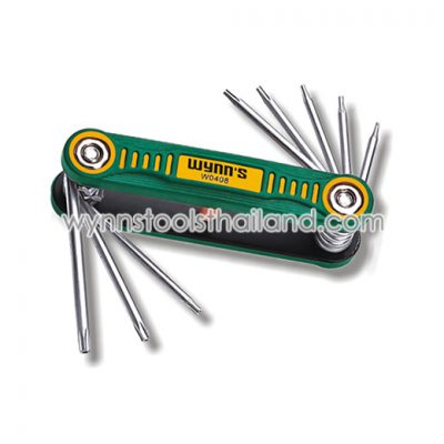 ประแจพับหัวทอร์คTorxมีรู ขนาดเล็ก เบอร์ T5-T6-T7-T8-T9-T10-T15-T20