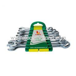ประแจแหวนข้างปากตาย 8ตัวชุด ขนาด 8, 10, 11, 12, 13, 14, 17, 19 มม.