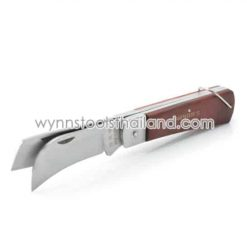มีดพับปอกสาย ใบมีด2ใบ มีดพับด้ามไม้ 200มม.