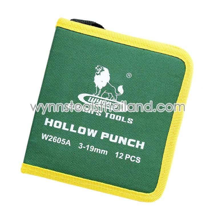 เหล็กตอกเจาะรู เหล็กตอกรู ตุ๊ดตู่ ชุด 12 ตัว hollow punch กระเป๋าใส่