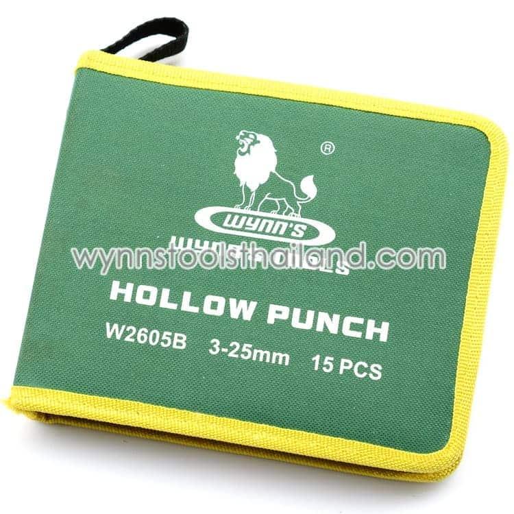 เหล็กตอกเจาะรู เหล็กตอกรู ตุ๊ดตู่ ชุด 15 ตัว hollow punch กระเป๋าใส่